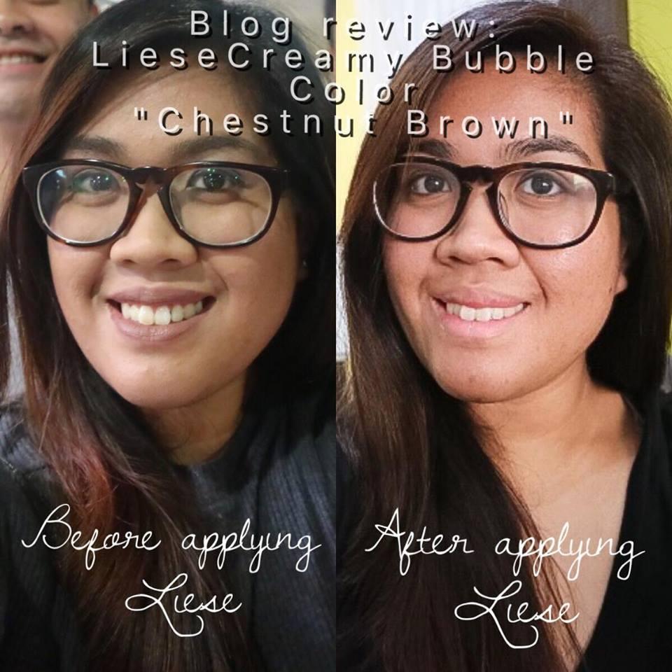 Chestnut Brown Liese Creamy Bubble Color Review Krishgeek