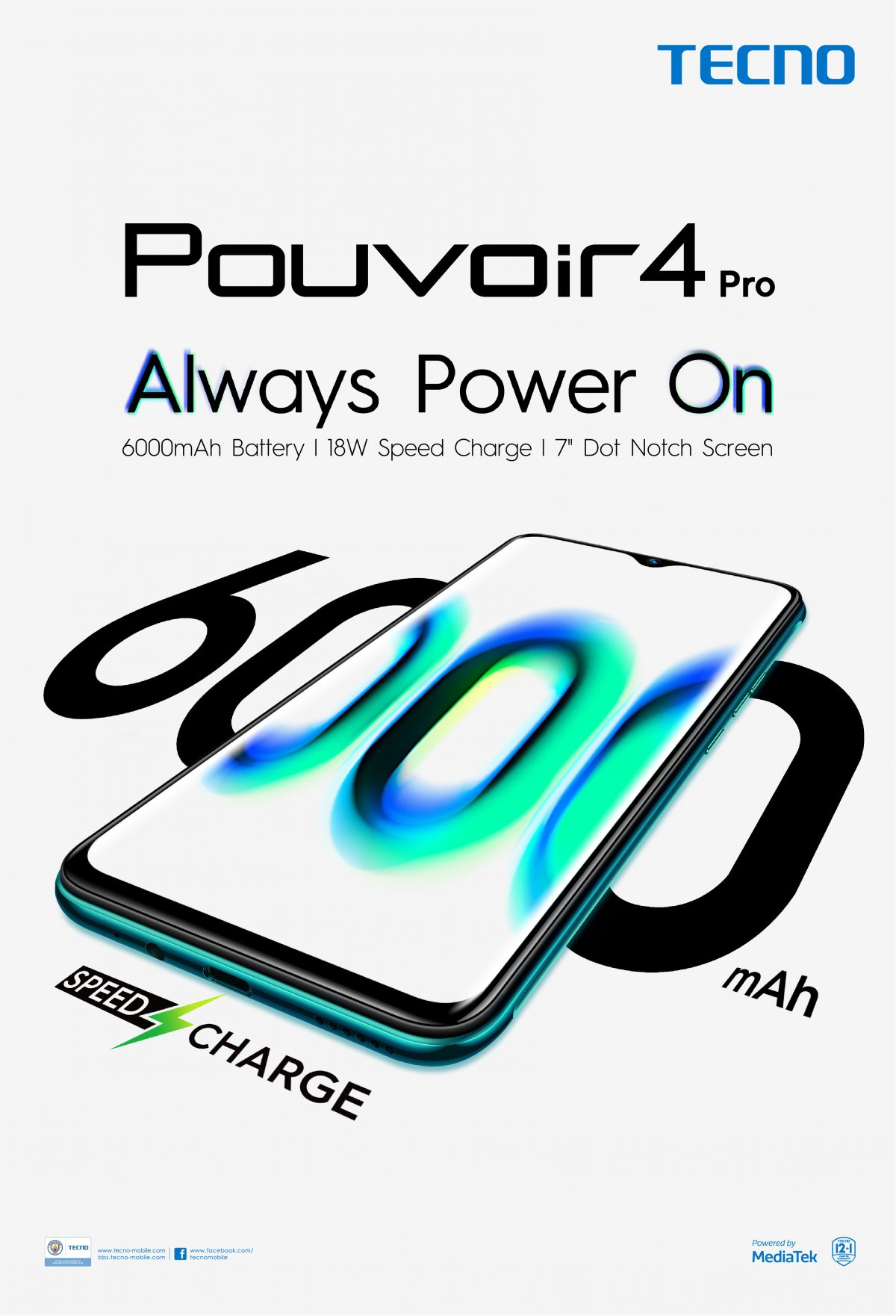 TECNO Mobile launched the Pouvoir 4 – a smartphone with four days lasting power