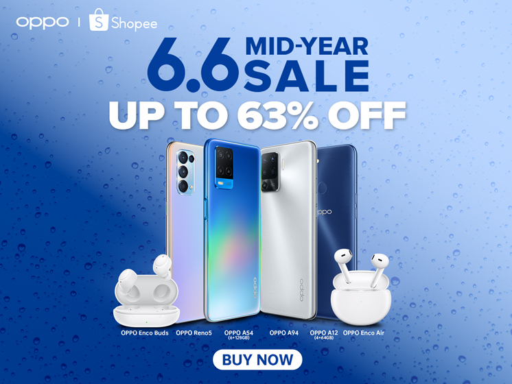 OPPO's Biggest 6.6 Sale Yet: Free Smartphones, Vouchers, Big Discounts and More on Shopee this Coming June 6