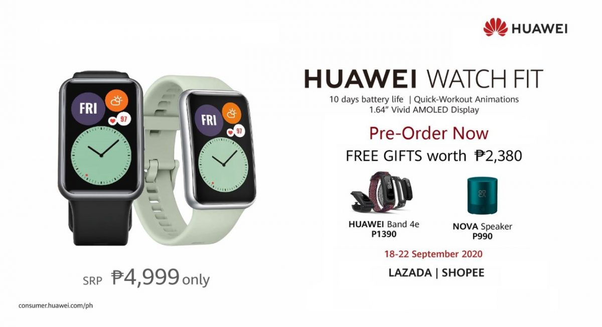 Introducing the Huawei Watch Fit