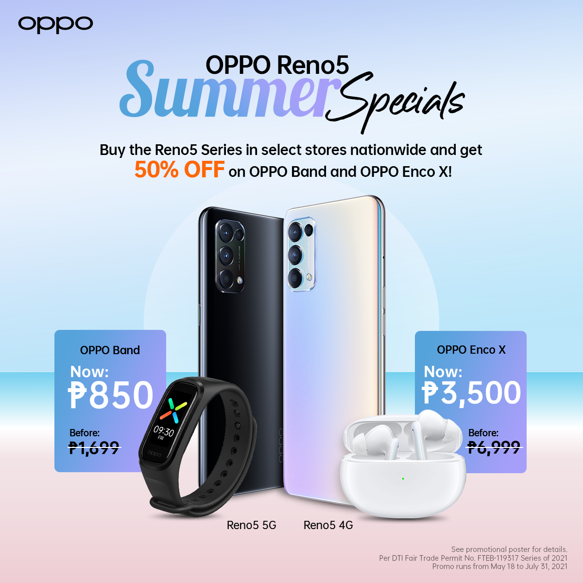 Hotter Deals with OPPO Reno5 Series  Offering 50% Off on OPPO Enco X and OPPO Band